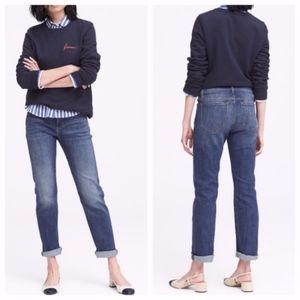 Banana Republic Girlfriend Mid Rise Rolled Jeans